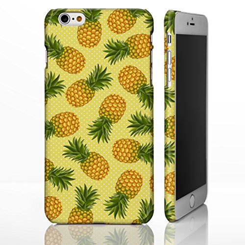 Obst iPhone Fall Kollektion. Lebendige Fruit Cover Designs von icasedesigner für die iPhone Serie, plastik, 4: Pineapple on Yellow Polka Dots, iPhone 4/4S