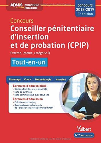Concours Conseiller pnitentiaire d'insertion et de probation (CPIP) - Catgorie B - Tout-en-un Concours 2018-2019