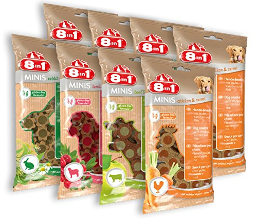 8in1 Minis Selection Hundesnack in 4 verschiedenen Sorten 8 x 100 g