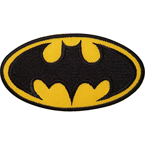 Comic Marvel Dress Kostüme Fancy (Batman Logo bestickt Eisen nähen auf Patch Fancy Kleid Kostüm T Shirt Tasche)
