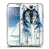 Head Case Designs Officiel Pixie Cold Loup De Glace Animaux Étui Coque D'Arrière Rigide pour Samsung Galaxy Note 2 II N7100