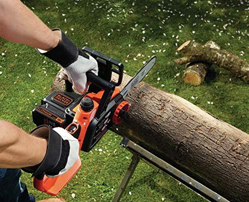 Black+Decker Li Ion Akku-Kettensäge 18V GKC1825L20 mit Akku und Ladegerät / Ideal für Holz- & Gartenarbeiten / 25 cm Schwertlänge - 6