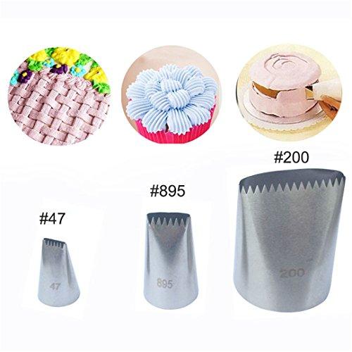 Rechteckige Düse (FantasyDay® 3 teiliges Kuchen Einrichtungstipps, Hochwertigen Edelstahl Sahnehäubchen Rohrleitungen Düsen Gebäck Tipps)