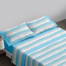 Burrito Blanco Juego de sábanas 458 Azul de cama de 150x190/200 cm