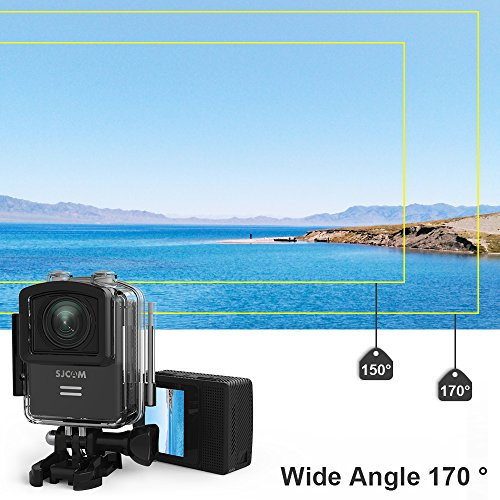 4K Action Camera, SJCAM M20 16MP Wifi Waterproof Underwater Camera, Remote Control/Gyro Stabilization/Distortion Correction/Sony Sensor, Waterproof Case & Accessories Included (Black)