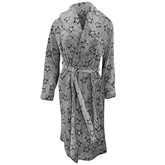 robe de chambre en polaire motif toile femme s gris v tements et accessoires. Black Bedroom Furniture Sets. Home Design Ideas