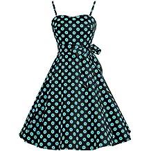 Bbonlinedress Vestidos Retro Vintage Rockabilly 1950 Tirantes Finos