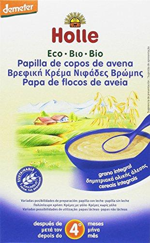 Papilla ecológica de copos de avena HOLLE (6 paquetes de 250 gr)