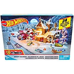Hot Wheels Calendario De Adviento, con coches de juguete y accesorios (Mattel FKF95)