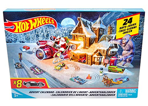 Hot Wheels-FKF95 Calendario De Adviento, (Mattel FKF95)