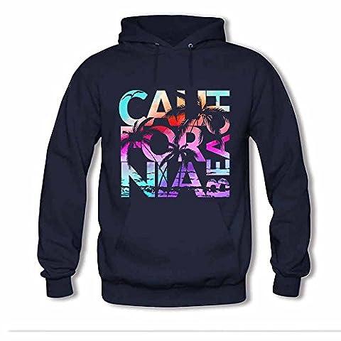 Womens California Beach - Lettering Logo T shirt Hoodie Sweatshirts L
