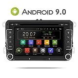 Aumume 7 inch Android 9.0 autoradio für VW Golf Passat Polo Tiguan Jetta Skoda Fabia Yeti Seat met Navi ondersteunt Mirrorlink Autoplay Bluetooth DAB+ (met 16 GB kaart)