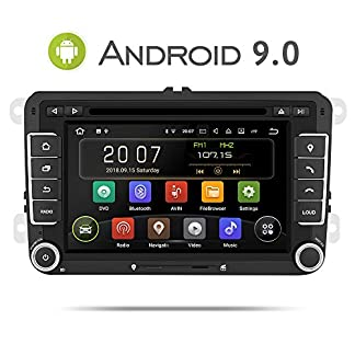 Aumume-7-Zoll-Android-90-Autoradio-fr-VW-Golf-Passat-Polo-Tiguan-Jetta-Skoda-Fabia-Yeti-Seat-mit-Navi-Untersttzt-Mirrorlink-Carplay-Bluetooth-DAB-mit-16-GB-Karte