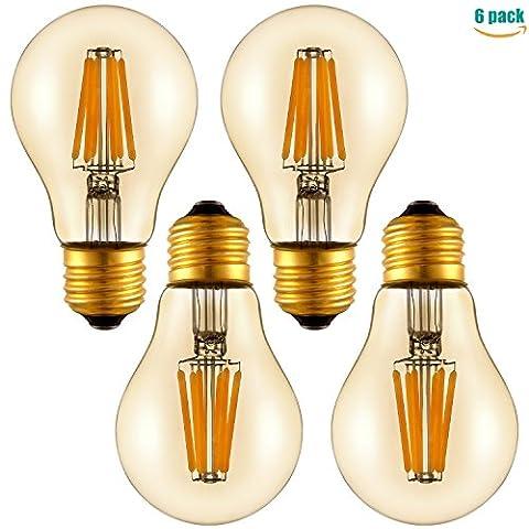 A19Ampoule 6W LED Edison Ambre, E27, 6.00 wattsW 230.00 voltsV