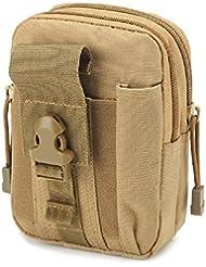 D30Tactical Molle Cintura Bolsas hombre Outdoor Sport Casual Cintura Pack Bolso Funda para teléfono móvil, caqui