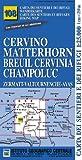 Carta n. 108 Cervino Matterhorn, Breuil Cervinia, Champoluc 1:25.000. Carta dei sentieri e dei rifugi. Serie monti