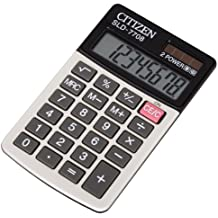 Citizen SLD-7708 Bolsillo Basic calculator Negro, Color blanco - Calculadora (Bolsillo, Basic calculator, Negro, Color blanco, Not available, Batería/Solar, CR2032)