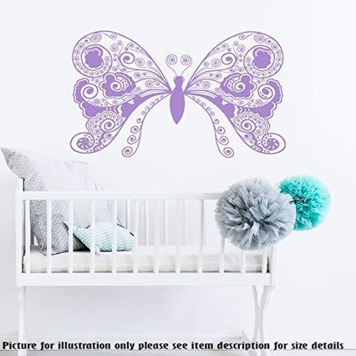Große Schmetterling Monogramm Wandaufkleber, Kinder Spielzimmer Wandkunst Aufkleber, Kinderzimmer Wandtattoo, Kinderzimmer Vinyl Wandaufkleber (Kinder-spielzimmer Decals)