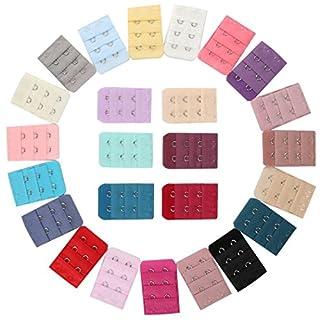 Ailiebhaus 25 Stück farbig sortiert Frauen 2-Haken 3 Reihen Abstand Bra Extender Strap BH-Erweiterung