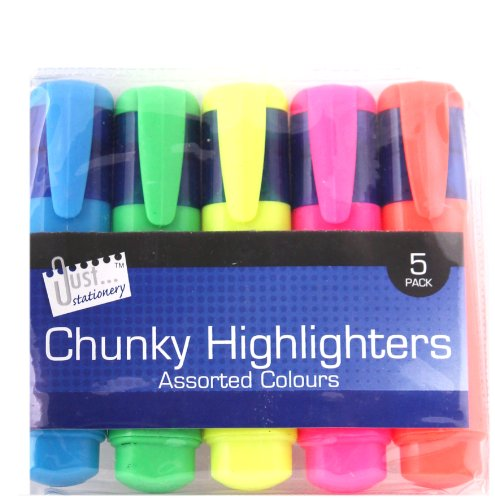 chunky-just-stationery-lot-de-5-surligneurs