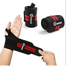 """Correas de muñeca (18.5 """") ODOLAND Adjustable Support Braces Wraps Belt Protector Powerlifting, Bodybuilding, levantamiento de pesas Soportes de muñeca para el entrenamiento con pesas - Para mujeres y hombres"""