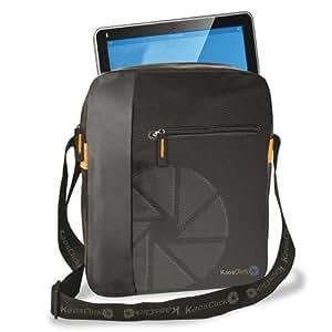 KAOS CLICK NON STOP Petit sac à bandoulière housse étui pour iPad tablette - Matériel: Nylon avec pièces en faux cuir