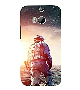 For HTC One M8 :: HTC M8 :: HTC One M8 Eye :: HTC One M8 Dual Sim :: HTC One M8sman in suit, man in water, man with halmet Designer Printed High Quality Smooth Matte Protective Mobile Case Back Pouch Cover by APEX