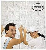 Arthome White Brick 3D Panneaux muraux Peel and Stick Papier peint pour la...
