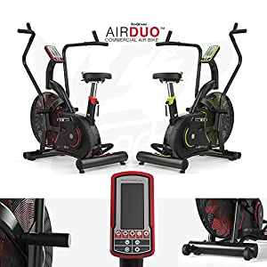 We R Sports AirDuo Air Assault Exercise Bike Cardio Machine Fitness Cycle Heavy Duty Commercial MMA Bike Full Body Gym Cross fit Workout