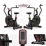 Exercise Bike Commercial Air Bike Dual Action Fan Bike Full Body Gym...