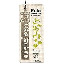 Righello Segnalibro, DS-Mart Bookmark Ruler 3 in 1 Modelli di Metallo Segnalibro Righello Hollow Design Creative Stencil Ruler Cartoon Segnalibri per Diario Agende, Calendari Carousel Style