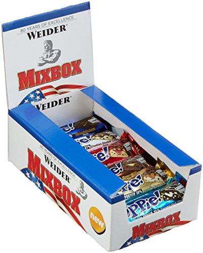 Weider YIPPIE! Bar, Mix-Box, 1er Pack (12 x 70g Riegel)