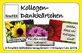 TimeTEX Kollegen - Dankkärtchen - 110-teilig im Etui - 62776