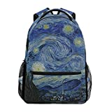 Best Backacks - Van Gogh Painting Blue Starry Night Backack Shoulder Review