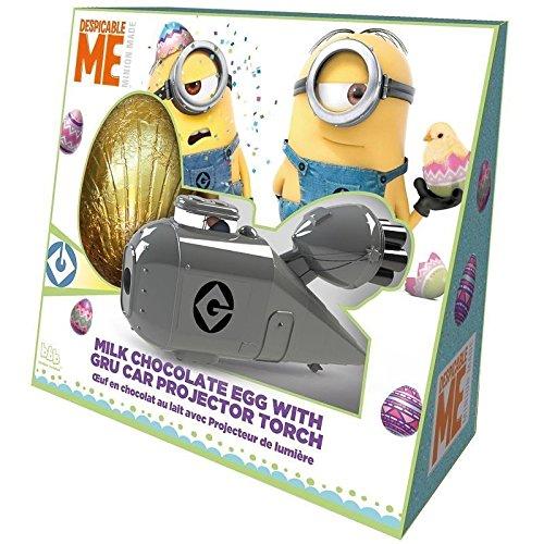 Minions Ostern-Geschenk-Set – Milchschokolade Ei Projektor-Nachtlicht-Fackel-Spielzeug