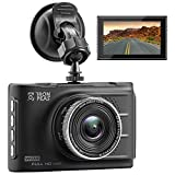 Dash-Kamera Recorder Dash Cam fhd1080p g-Sensor Loop Recording, Monitor/LDWS FCWS WDR Super Nachtsicht 3-Zoll-LCD-Display mit Breiter Winkel von Ironpeas