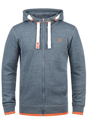 SOLID BenjaminZip Herren Sweatjacke Kapuzen-Jacke Zip-Hoodie aus hochwertiger Baumwollmischung, Größe:L, Farbe:Grey Blue Melange (1946M)
