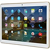 "10 Inch Tablet Android 10.1"" IPS Octa Core 4GB RAM 64GB ROM YELLYOUTH Unlocked Tablet PC Sim Card Slot Camera GPS WiFi OTG Bluetooth 10"" - White"