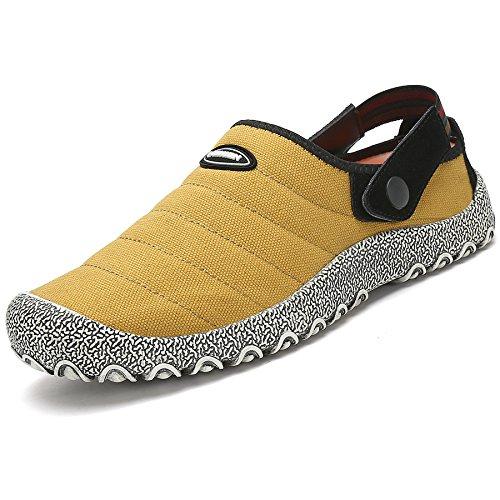 ukStore Outdoor Chaussures de Sabots Homme Été Sandales Casual Chaussons Mules Femme Respirante Pantoufles Clogs Jaune