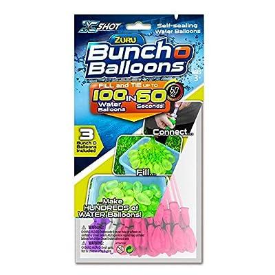 100 Fast Fill Magic ZURU Bunch o Water Balloon Self Tying Bomb Summer Party Toy Beach