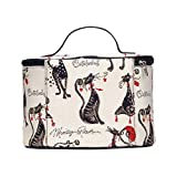 Signare Tapestry Women Toiletry Make-Up Bag Catitude (TOIL-CUDE)