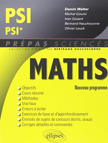 Maths PSI/PSI* Programme 2014