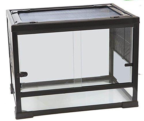 Velma terrario in vetro con tetto in rete 60x40x45h