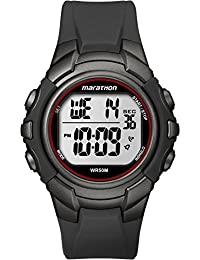 Timex Men's T5K642 LCD Dial Digital Display and Black Resin Strap