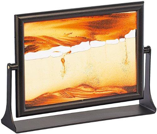 infactory Sand Kippbild: Sandbild Eldorado 13 x 18 cm (Sand Bilderrahmen)