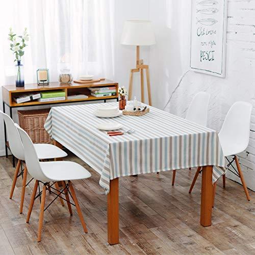 LETAMG Tischdecke Tischwäsche Garn-Gefärbtes Polyestergarn Wasserdicht Tartan Schlicht Geometrisch Tee Tischdecke Tischdecke, 140 * 160Cm -