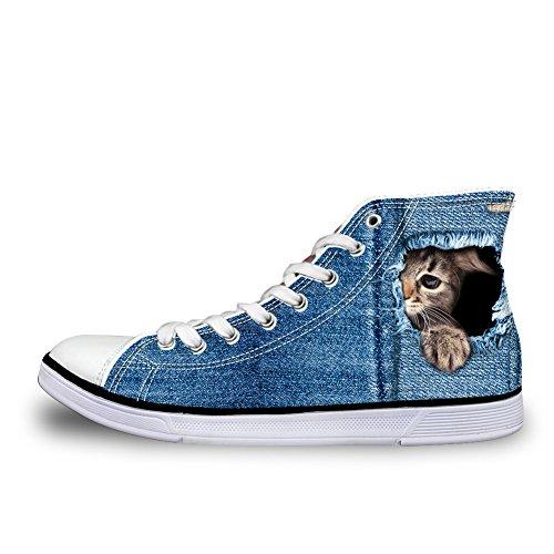 Coloranimal - A Collo Alto donna denim cat-2