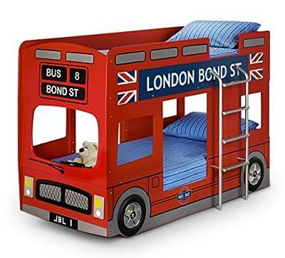 Julian Bowen London Bus Single Bunk Bed, Red