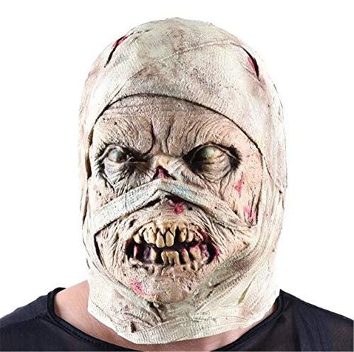 LPP Halloween Maske, Unisex Horror Party Dekoration Decoration Zombie Mumien Super Ghost Haunted House Escape Kopfbedeckung