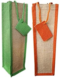 Bubby Set Of 2 Natural Jute Wine Bag